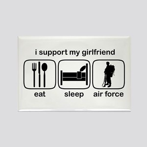 Eat Sleep Air Force - Support GF Rectangle Magnet