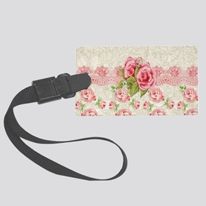 Meaning Pink Roses Luggage Tag