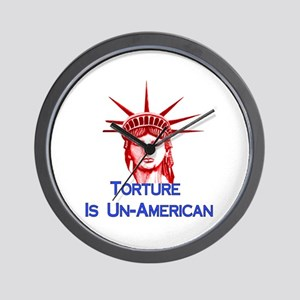 Torture Is Un-American Wall Clock