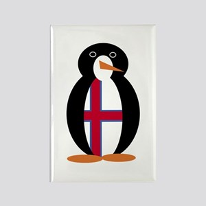 Penguin Flag Faroe Islands Rectangle Magnet