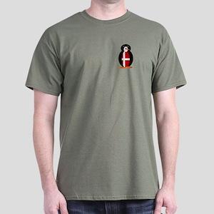 Penguin Flag Denmark Dark T-Shirt