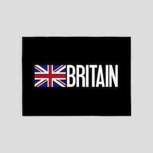 Britain: British Flag & Britain 5'x7'Area Rug