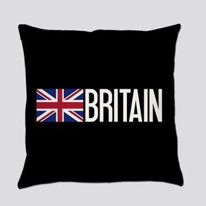 Britain: British Flag & Britain Everyday Pillow