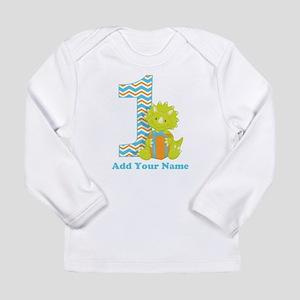 First Birthday Dinosaur Long Sleeve T-Shirt