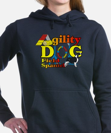 Field Spaniel Agility Women's Hooded Sweatshirt