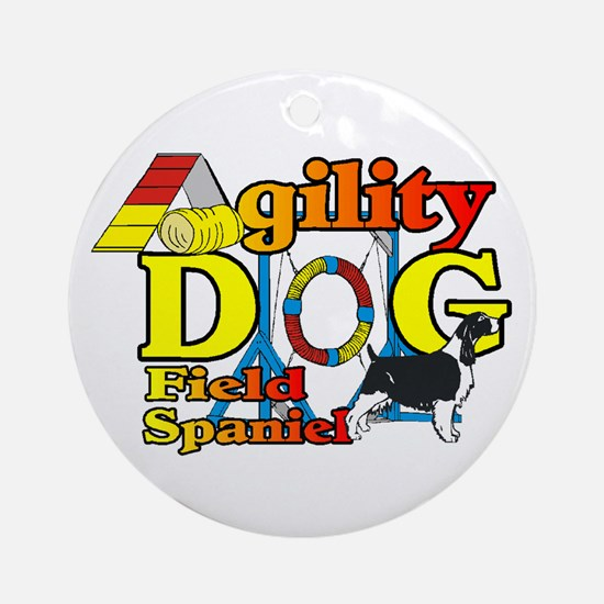 Field Spaniel Agility Round Ornament