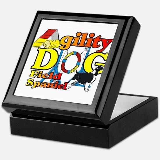 Field Spaniel Agility Keepsake Box