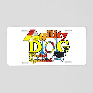Field Spaniel Agility Aluminum License Plate