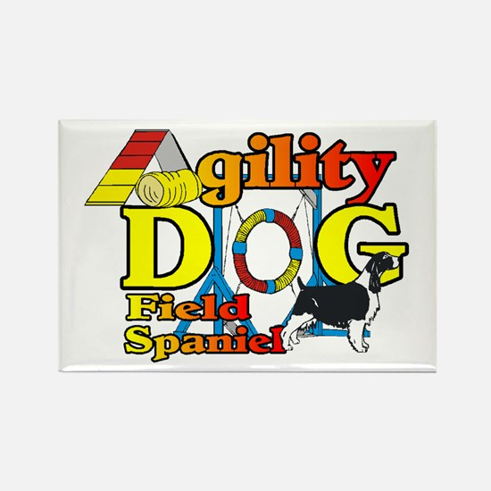 Field Spaniel Agility Rectangle Magnet (10 pack)