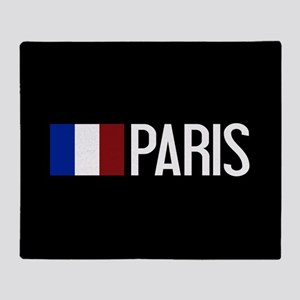 France: French Flag & Paris Throw Blanket