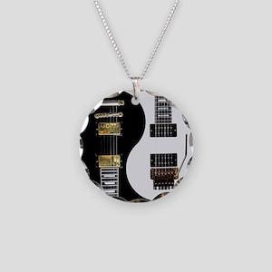 Yin Yang - Guitars Necklace Circle Charm