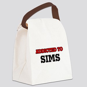 Addicted to Sims Canvas Lunch Bag