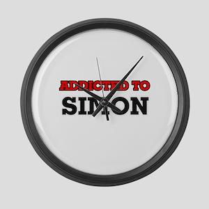 Addicted to Simon Large Wall Clock