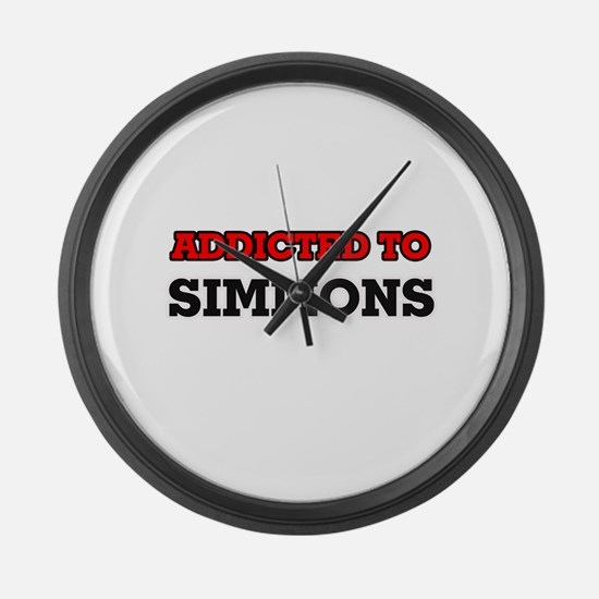 Addicted to Simmons Large Wall Clock