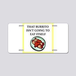 burrito Aluminum License Plate