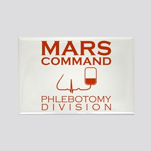 Mars Command Phlebotomy Division Rectangle Magnet