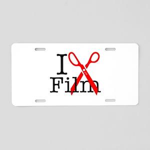 I Edit Film - Aluminum License Plate