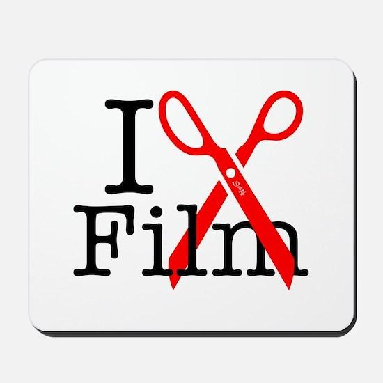 I Edit Film - Mousepad