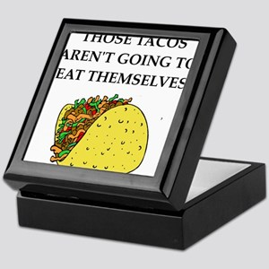 mexican food joke Keepsake Box