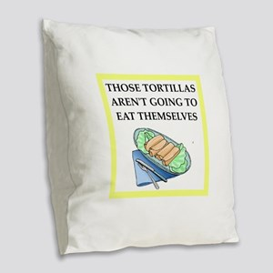 tortillas Burlap Throw Pillow