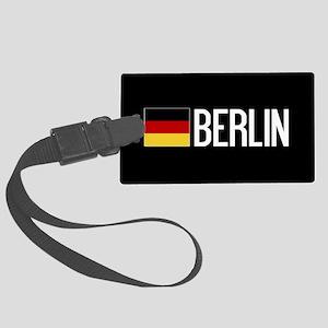 Germany: German Flag & Berlin Large Luggage Tag