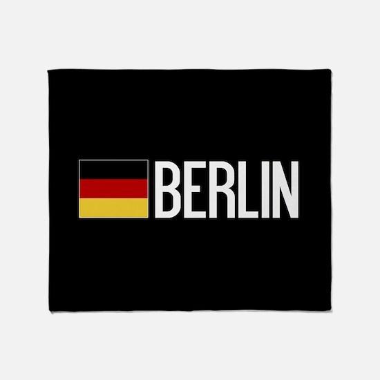 Germany: German Flag & Berlin Throw Blanket