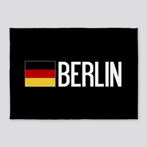 Germany: German Flag & Berlin 5'x7'Area Rug