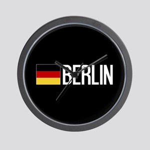 Germany: German Flag & Berlin Wall Clock