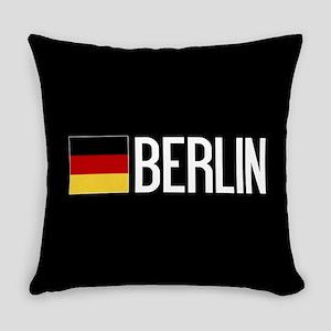 Germany: German Flag & Berlin Everyday Pillow