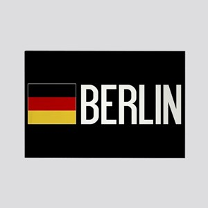 Germany: German Flag & Berlin Rectangle Magnet