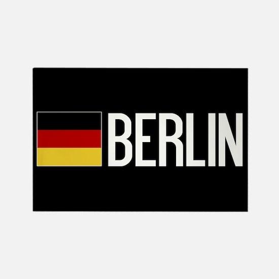Germany: German Flag & Berlin Rectangle Magnet