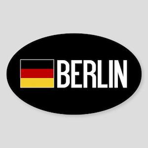 Germany: German Flag & Berlin Sticker (Oval)