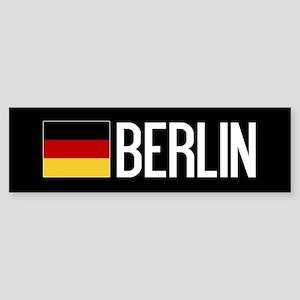 Germany: German Flag & Berlin Sticker (Bumper)