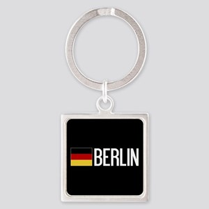 Germany: German Flag & Berlin Square Keychain