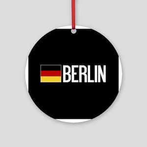 Germany: German Flag & Berlin Round Ornament