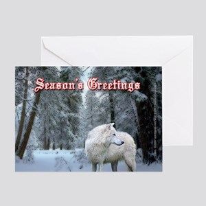 Native american christmas greeting cards cafepress wolf christmas card m4hsunfo