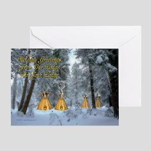 Tipi Village Christmas Card