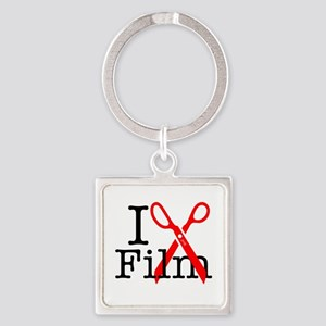 I Edit Film - Square Keychain Keychains