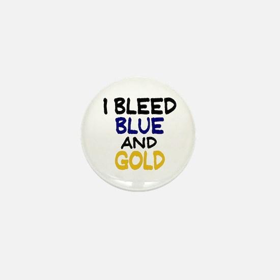 I Bleed Blue n Gold Mini Button