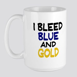 I Bleed Blue n Gold Large Mug