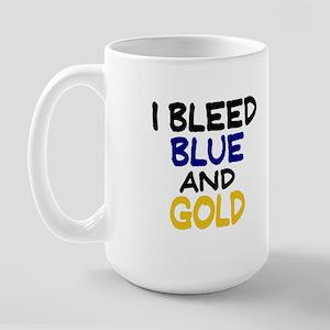 I Bleed Blue n Gold Large Mug
