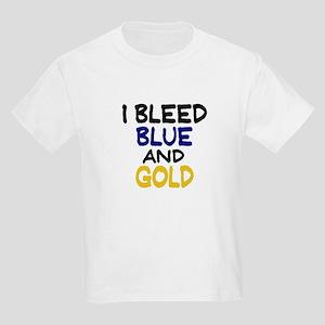 I Bleed Blue n Gold Kids Light T-Shirt