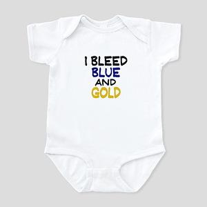 I Bleed Blue n Gold Infant Bodysuit
