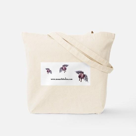 flying piggie tote bag