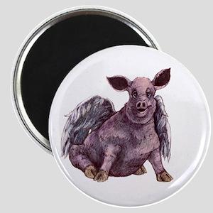 flying piggie magnet