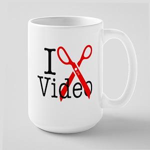 I Edit Video - Large Mug Mugs