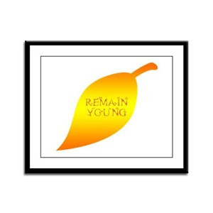 REMAIN YOUNG! Framed Panel Print