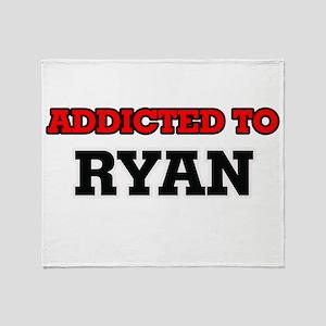 Addicted to Ryan Throw Blanket