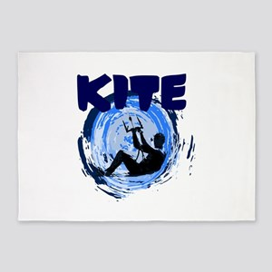 Kite surfing 5'x7'Area Rug