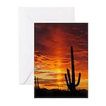 Saguaro Sunset Solstice Greeting Cards (Pk of 10)